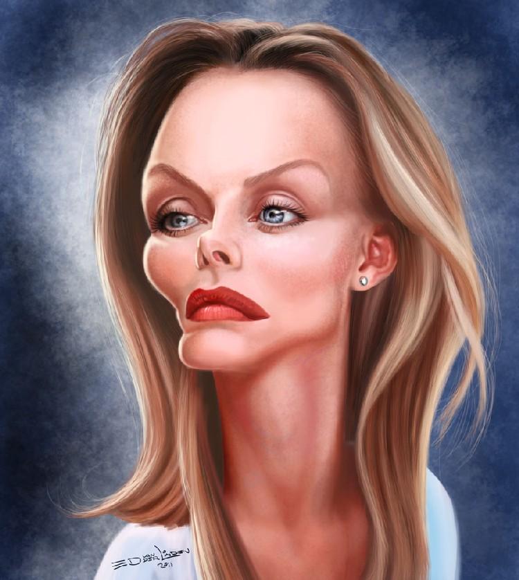 Карикатуры знаменитостей от ed van der linden